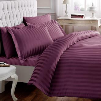 Комплект постельного белья Tivolyo Home NEW JACQUARD бамбуковый сатин-жаккард (сиреневый)
