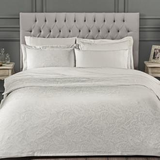 Комплект постельного белья Tivolyo Home AVELINE бамбуковый сатин-жаккард (кремовый)