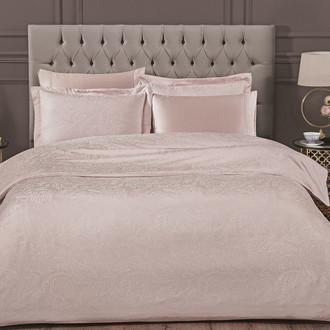 Комплект постельного белья Tivolyo Home AVELINE бамбуковый сатин-жаккард (пудра)