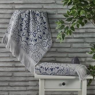 Полотенце для ванной Karna DURU хлопковая махра (серый)