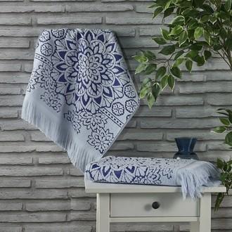 Полотенце для ванной Karna DURU хлопковая махра (голубой)