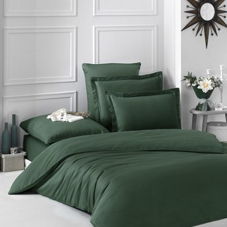 Постельное белье Karna LOFT хлопковый сатин зелёный