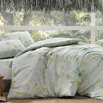 Комплект постельного белья TAC INOVA ION THERAPY GREEN сатин deluxe (зелёный)