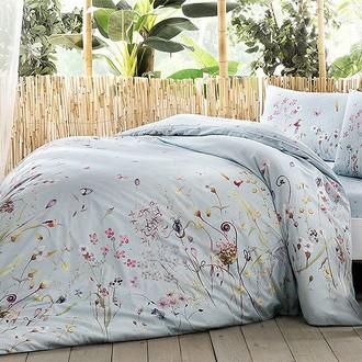 Постельное белье TAC INOVA ION THERAPY FRESH бамбуково-хлопковый сатин голубой