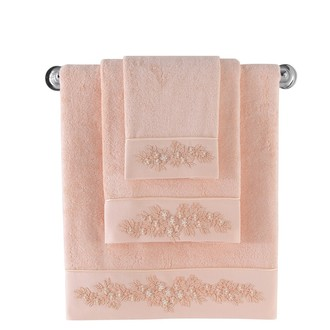 Полотенце для ванной Soft Cotton MASAL бамбуково-хлопковая махра (персиковый)