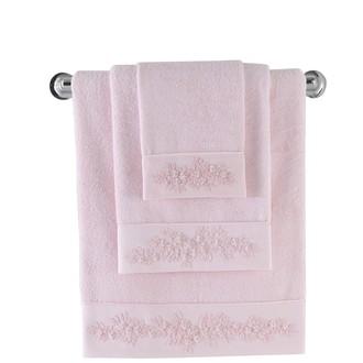 Полотенце для ванной Soft Cotton MASAL бамбуково-хлопковая махра розовый