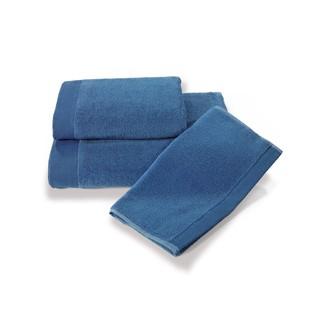 Набор полотенец для ванной в подарочной упаковке 32*50(3) Soft Cotton MICROSOFT хлопковый микрокоттон (синий)