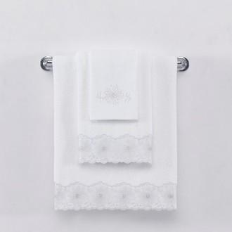 Полотенце для ванной Soft Cotton MELODY хлопковая махра (белый)