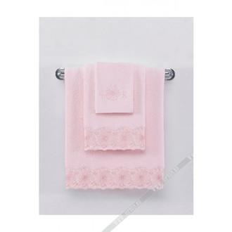 Полотенце для ванной Soft Cotton MELODY хлопковая махра (розовый)