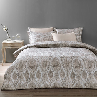 Комплект постельного белья Tivolyo Home DANTE сатин, жатый шёлк (бежевый)
