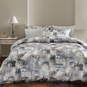 Комплект постельного белья Tivolyo Home ODETTE сатин, жатый шёлк (бежевый)