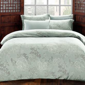 Комплект постельного белья Tivolyo Home LARA сатин, жатый шёлк (зелёный)