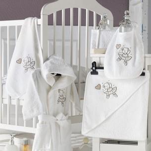 Набор для купания новорожденных Karna BABY CLUB хлопковая махра кремовый V2 1-3 года