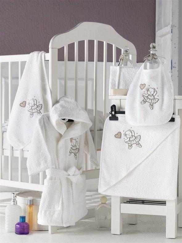 Набор для купания новорожденных Karna BABY CLUB хлопковая махра (кремовый) 1-3 года, фото, фотография
