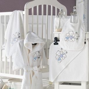 Набор для купания новорожденных Karna BABY CLUB хлопковая махра кремовый 1-3 года