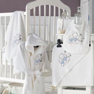 Набор для купания новорожденных Karna BABY CLUB хлопковая махра кремовый