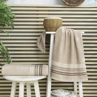 Полотенце для ванной Karna PAULA хлопковая махра (бежевый)