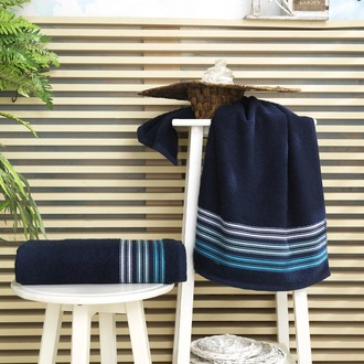 Полотенце для ванной Karna PAULA хлопковая махра (синий)