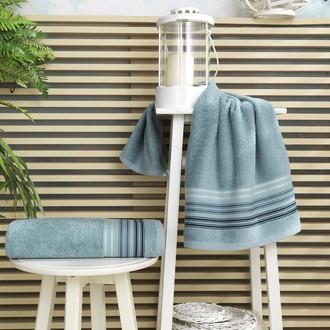 Полотенце для ванной Karna PAULA хлопковая махра (ментол)