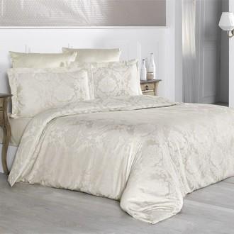 Комплект постельного белья Karna VALERI сатин-жаккард (бежевый)