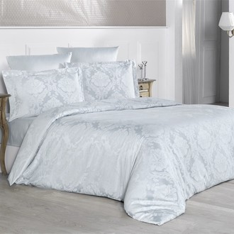 Комплект постельного белья Karna VALERI сатин-жаккард (серый)
