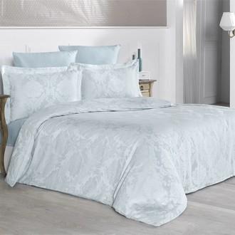 Комплект постельного белья Karna VALERI сатин-жаккард (изумрудный)