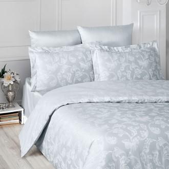 Комплект постельного белья Karna ARIEL сатин-жаккард (серый)