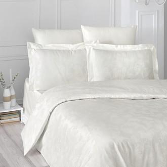 Комплект постельного белья Karna ARIEL сатин-жаккард (кремовый)