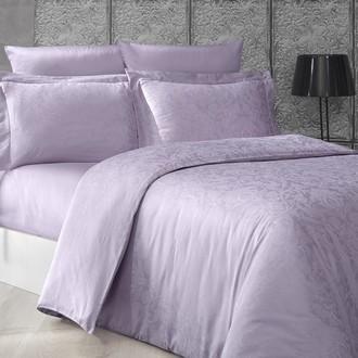 Комплект постельного белья Karna GRETA сатин-жаккард (светло-лавандовый)