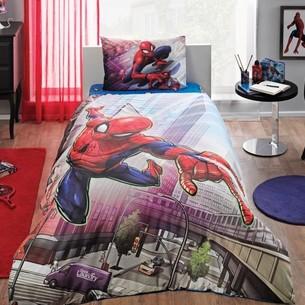 Детское постельное белье TAC SPIDERMAN ACTION хлопковый ранфорс 1,5 спальный