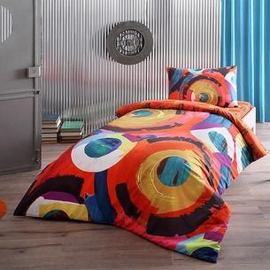 Комплект подросткового постельного белья TAC MOTION хлопковый ранфорс красный 1,5 спальный