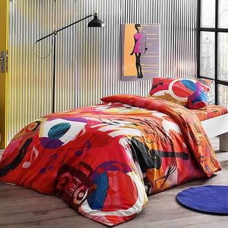 Комплект подросткового постельного белья TAC PLAYER хлопковый ранфорс (красный)