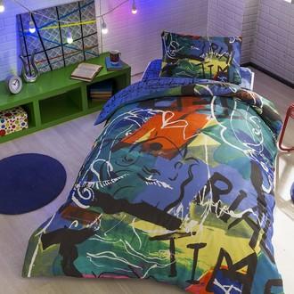Комплект подросткового постельного белья TAC FACE хлопковый ранфорс (пурпурный)