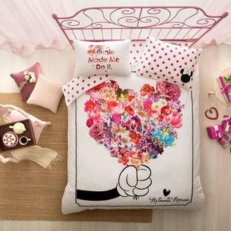 Комплект детского постельного белья TAC MINNIE FLOWERS хлопковый ранфорс