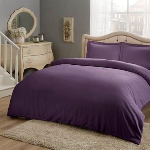 Постельное белье TAC HAPPY DAYS BASIC хлопковый сатин фиолетовый евро