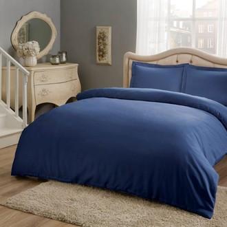 Комплект постельного белья TAC HAPPY DAYS BASIC хлопковый сатин (синий)