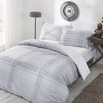 Комплект постельного белья TAC HAPPY DAYS VENTURA хлопковый сатин (серый)