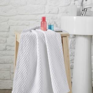 Полотенце для ванной Karna DAMA хлопковая махра кремовый 70х140