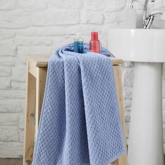 Полотенце для ванной Karna DAMA хлопковая махра (голубой)