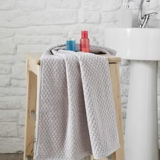 Полотенце для ванной Karna DAMA хлопковая махра (кофейный)