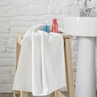 Полотенце для ванной Karna DAMA хлопковая махра белый