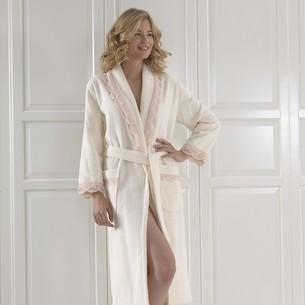 Халат женский Soft Cotton BUKET хлопковая махра кремовый S