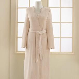 Халат женский Soft Cotton MELIS хлопковая махра пудра S