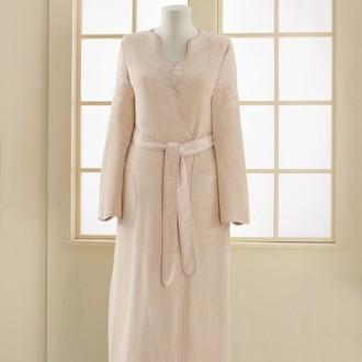Халат женский Soft Cotton MELIS хлопковая махра (пудра)