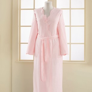 Халат женский Soft Cotton MELIS хлопковая махра розовый S