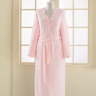 Халат женский Soft Cotton MELIS хлопковая махра розовый