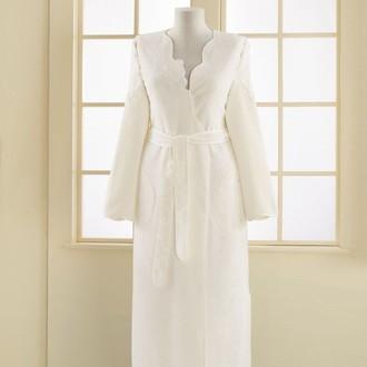 Халат женский Soft Cotton MELIS хлопковая махра (экрю)