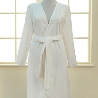 Халат женский Soft Cotton PANDORA KIMONO хлопковая махра (кремовый)