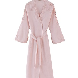 Халат женский Soft Cotton MASAL бамбуково-хлопковая махра розовый