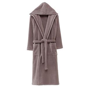 Халат мужской Soft Cotton STRIPE хлопковая махра коричневый XL